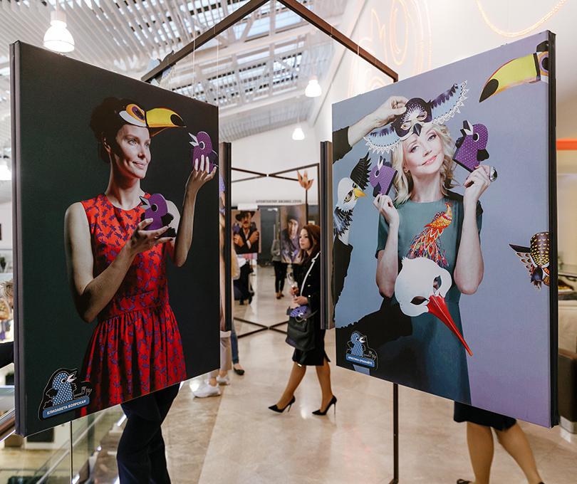Открытие выставки «Люди иптицы» в«Смоленском пассаже»