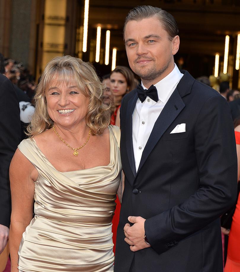 Леонардо с мамой Ирмелин Ди Каприо