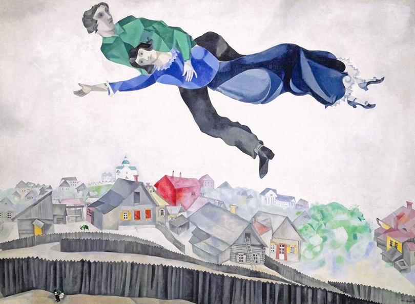 Art & More: шесть фактов о Марке Шагале, или Новые панно художника в Третьяковке. Факт 6— смерть вполете