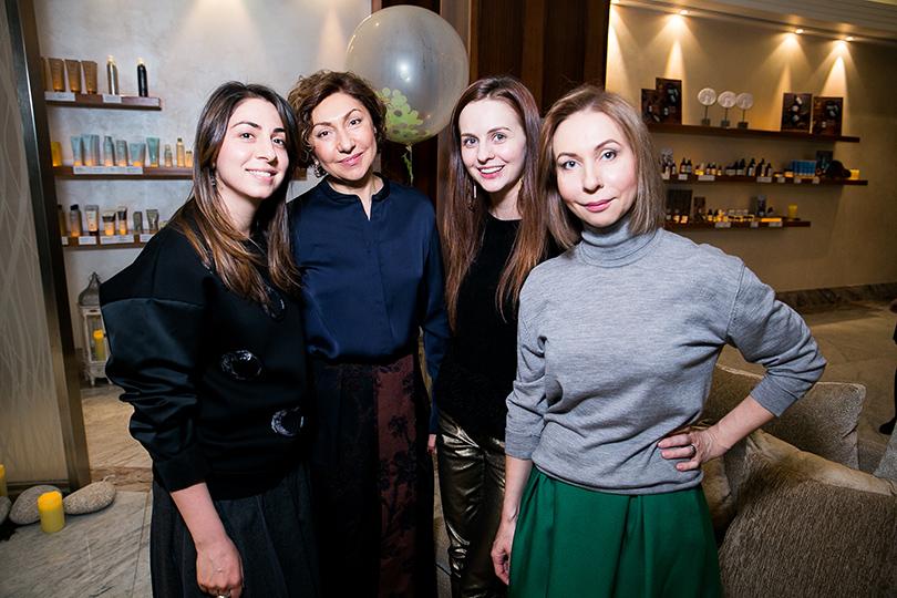 Открытие Mahash The Only Spa в отеле InterContinental: Лиана Тужба, Юлия Прудько и Елена Усанова