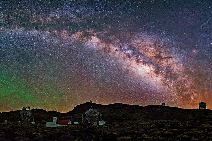 Идея для путешествия: астрономические обсерватории, вкоторые открыт доступ туристам. Обсерватория Роке-де-лос-Мучачос, Испания, Канарские острова, остров Пальма, высота 2330 метров