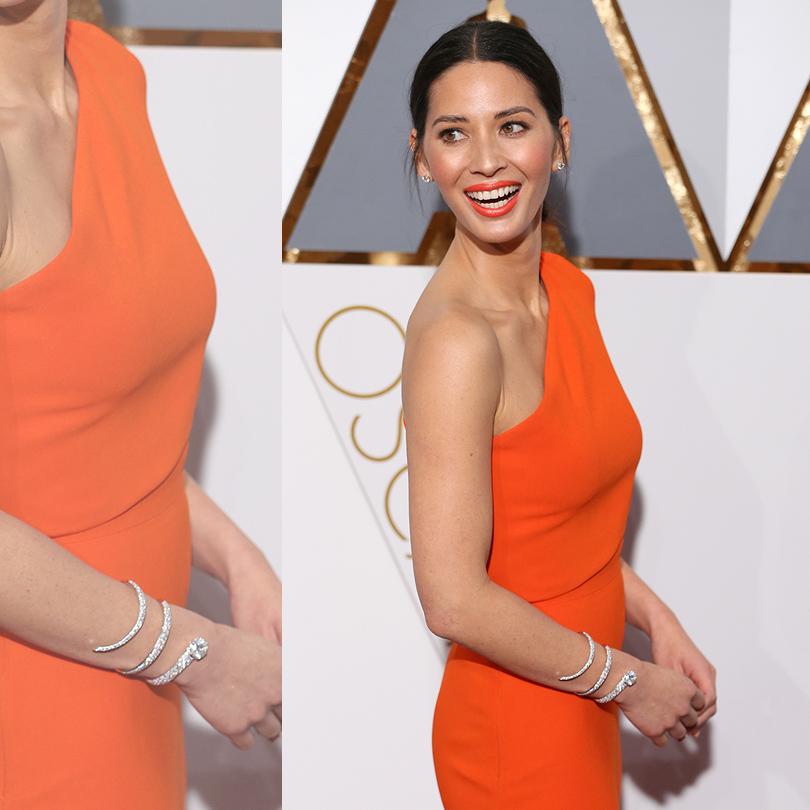 Ювелирные украшения звезд на церемонии «Оскар-2016»: Оливия Манн в браслете Forevermark