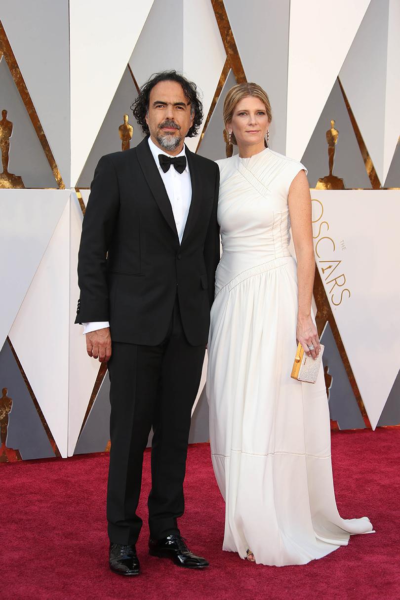 Звездные пары на церемонии вручения кинонаград «Оскар-2016»: Алехандро Гонсалес Иньярриту с женой