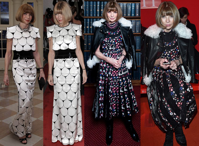 Тренд на outfit recycling: носить платья по два раза считают уместным Анна Винтур