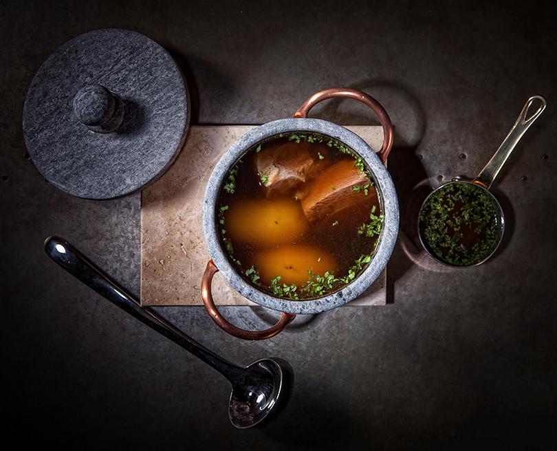 Ресторан «Медь». Суп из телятины