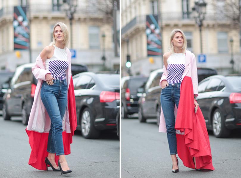 Street Style: уличная мода на Неделе Haute Couture в Париже. Модный блогер Софи Валкиерс