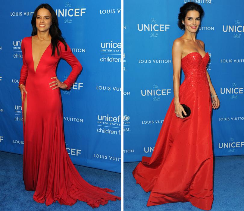 Ежегодный благотворительный бал UNICEF. Мишель Родригес, Энджи Хармон