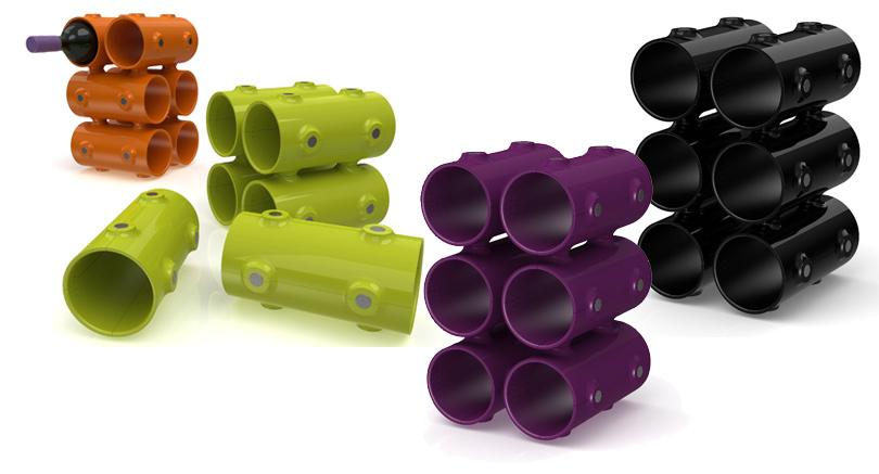 Дизайн & Декор: винные стеллажи и полки-конструкторы — для стильных интерьеров и модных вечеринок. Engage от  Snapp Design