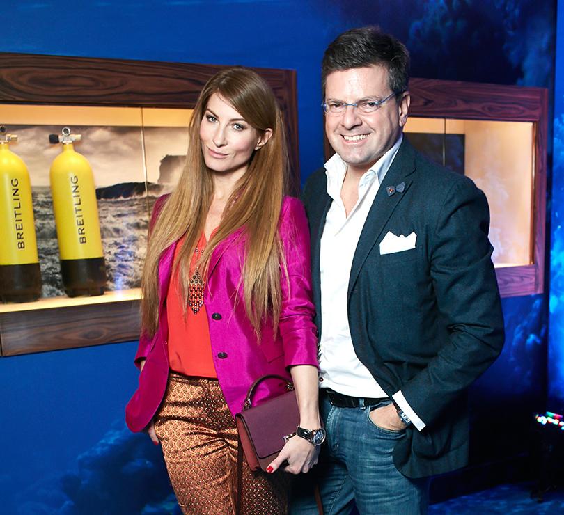 Константин Андрикопулос с женой