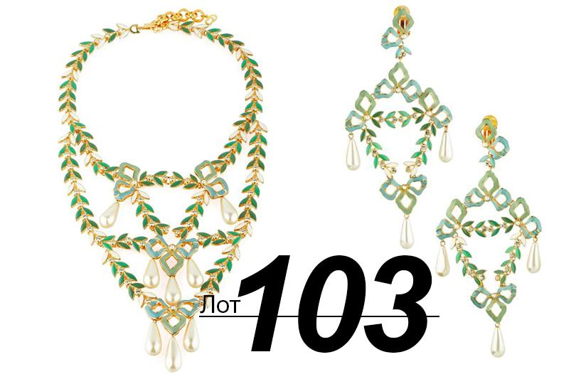 Сподиума— нааукцион: Sotheby's выставил наторги прототипы украшений споказов Dior. «Осколок империи» (лот 103)