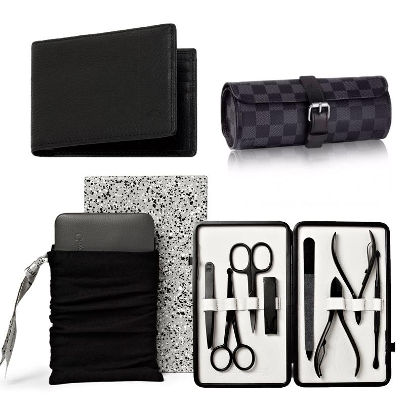 Практичный держатель для карт Mulberry; складывающийся дорожные футляр для часов Louis Vuitton; набор для маникюра Czech & Speake