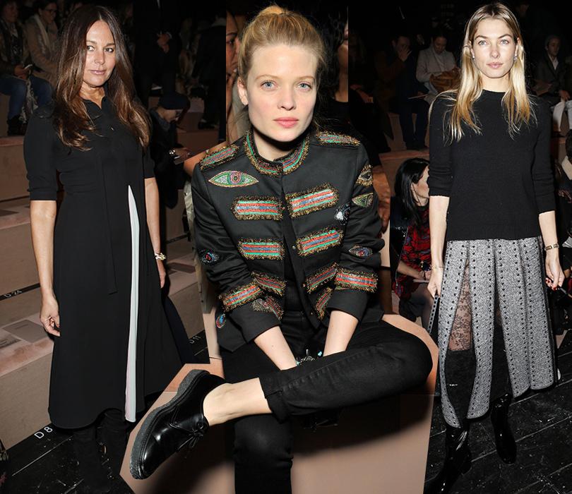 Звездные гости Недели моды в Париже, 2016: Дизайнер Лиза Мари Фернандес, Мелани Тьерри, Джессика Харт