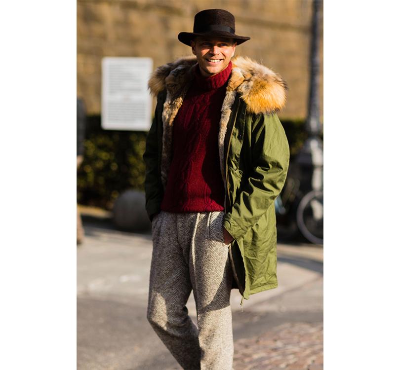 Men in Style: уличная мода на выставке Pitti Uomo. Дизайнер Люка Рубиначчи