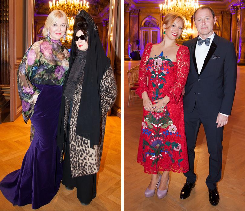 Гала-ужин Yanina Couture в Париже. Дайан Перне