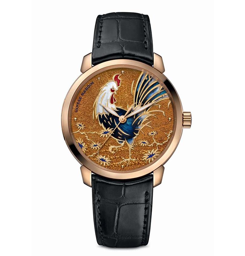 Мастера Ulysse Nardin в честь грядущего года представили часы Classico Year of the Rooster