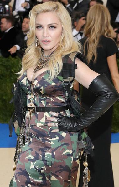 Героини Met Gala 2017, перешагнувшие 45-летний рубеж, иихсекреты красоты: Мадонна, 58лет