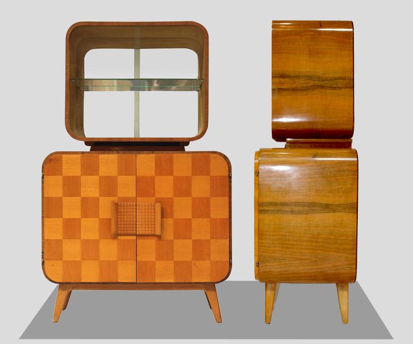 Бар 1950-х годов, дизайн Джиндрича Галабала, 2500USD на1stdibs.com