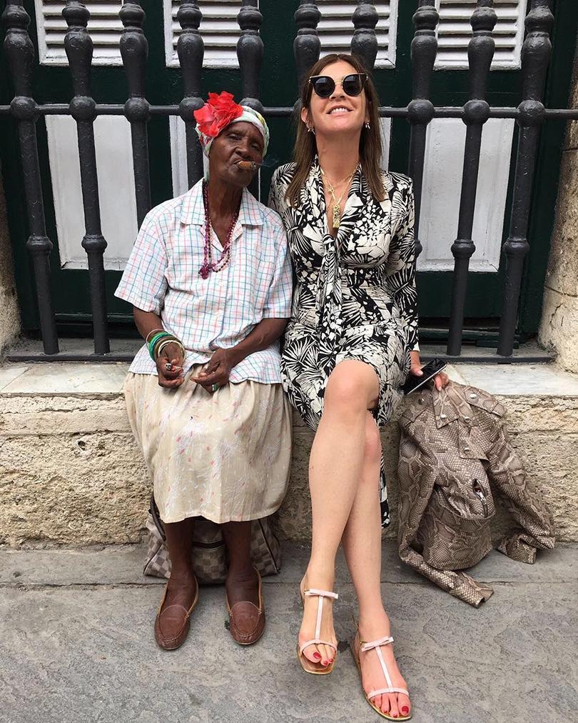 Показ круизной коллекции Chanel на Кубе. Карин Ройтфельд