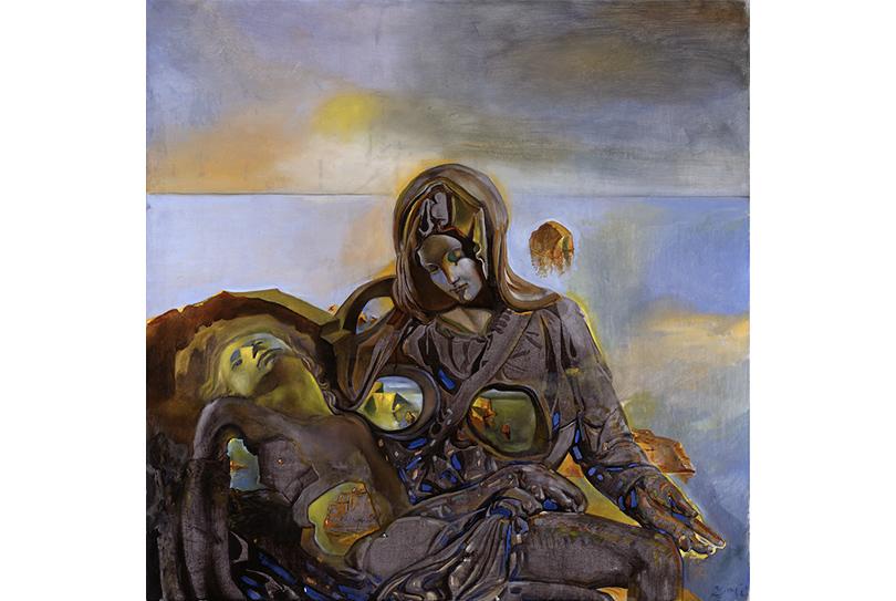 Сальвадор Дали. Геологическое Эхо. Пьета. Помотивам скульптуры «Пьета» работы Микеланджело.1982