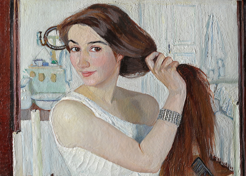 «Зинаида Серебрякова». Зинаида Серебрякова. «Затуалетом. Автопортрет», 1909г.