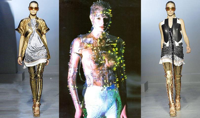 Givenchy, 1999 (в центре). Balenciaga, 2007 г.