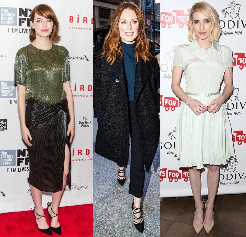 Shoes & Bags Blog: почему fashionistas выбирают Aquazzura? Эмма Стоун, Джулианна Мур, Эмма Робертс