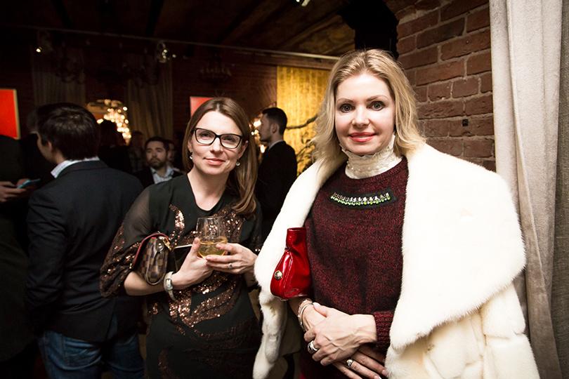 Светская хроника: «Джентльменский вечер №3» от Secret Art Pop-Up Gallery. Лея Бейлис и Вера Аникеева