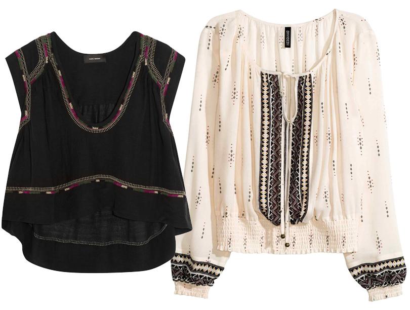 Черный шелковый топ Isabel Marant, блузка H&M