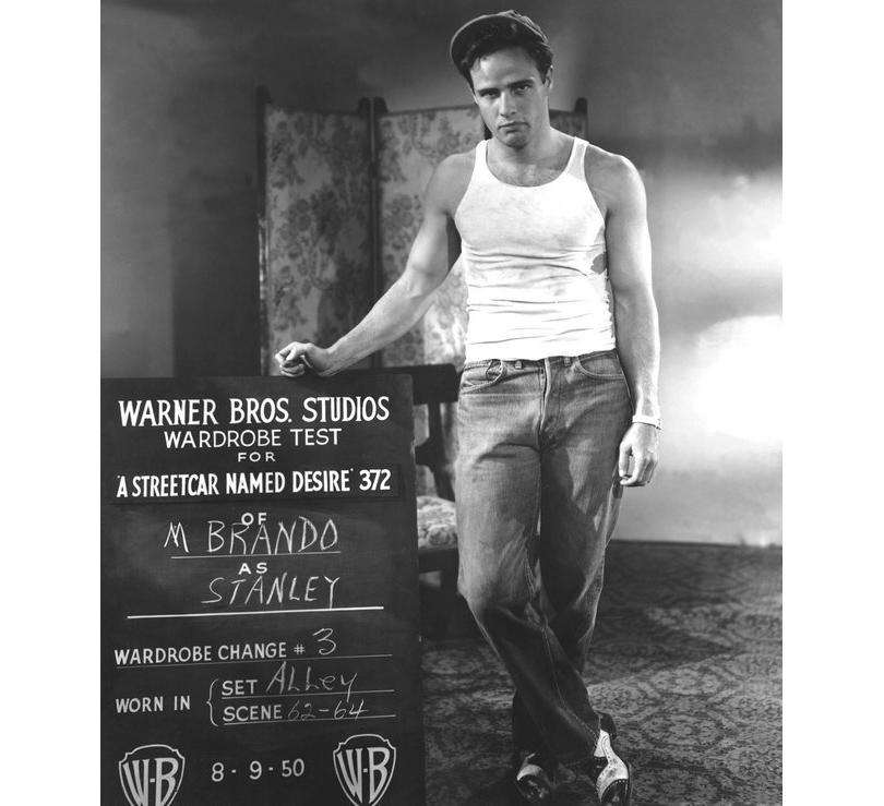 "Men in Style: модная легенда Марлон Брандо. Во время съемок фильма «Трамвай ""Желание""» (1951год)"