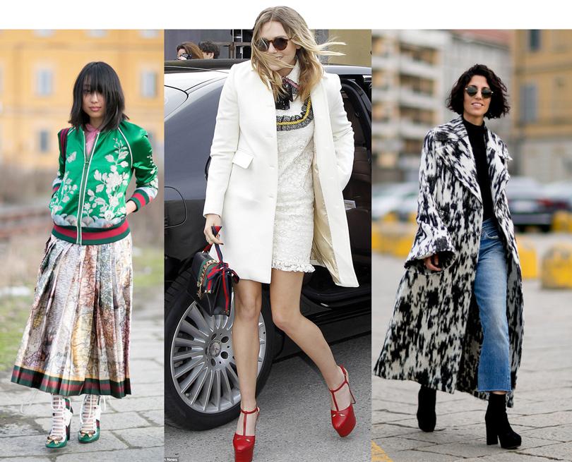 Лучшие образы street style на Неделе моды в Милане: Модный блогер и стилист Маргарет Жанг, Элизабет Олсен, стилист Ясмин Севелл