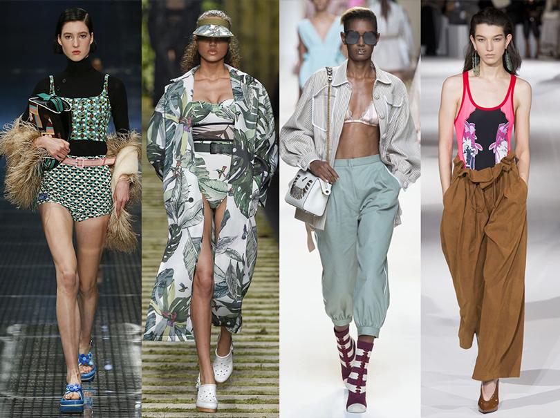 Office Style: адаптируем самые «горячие» подиумные тренды весны для корпоративного дресс-кода. Купальная эстетика ввесенних коллекциях Stella McCartney, Prada, Fendi, MaxMara
