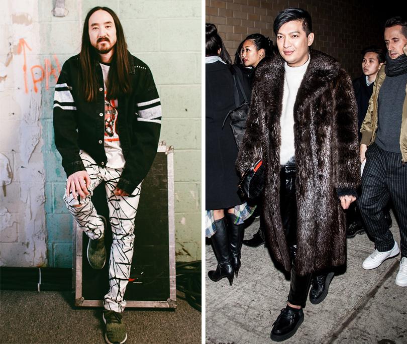 Men inStyle: уличный стиль наНеделе мужской моды вНью-Йорке. Диджей Стив Аоки. Блогер Брайан Бой