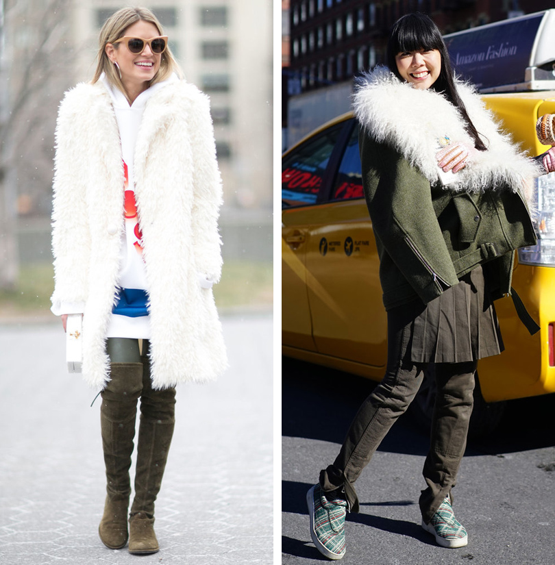 Лучшие образы на Неделе моды в Нью-Йорке: модный блогер Хелена Бордон, модный блогер Сьюзи Лау