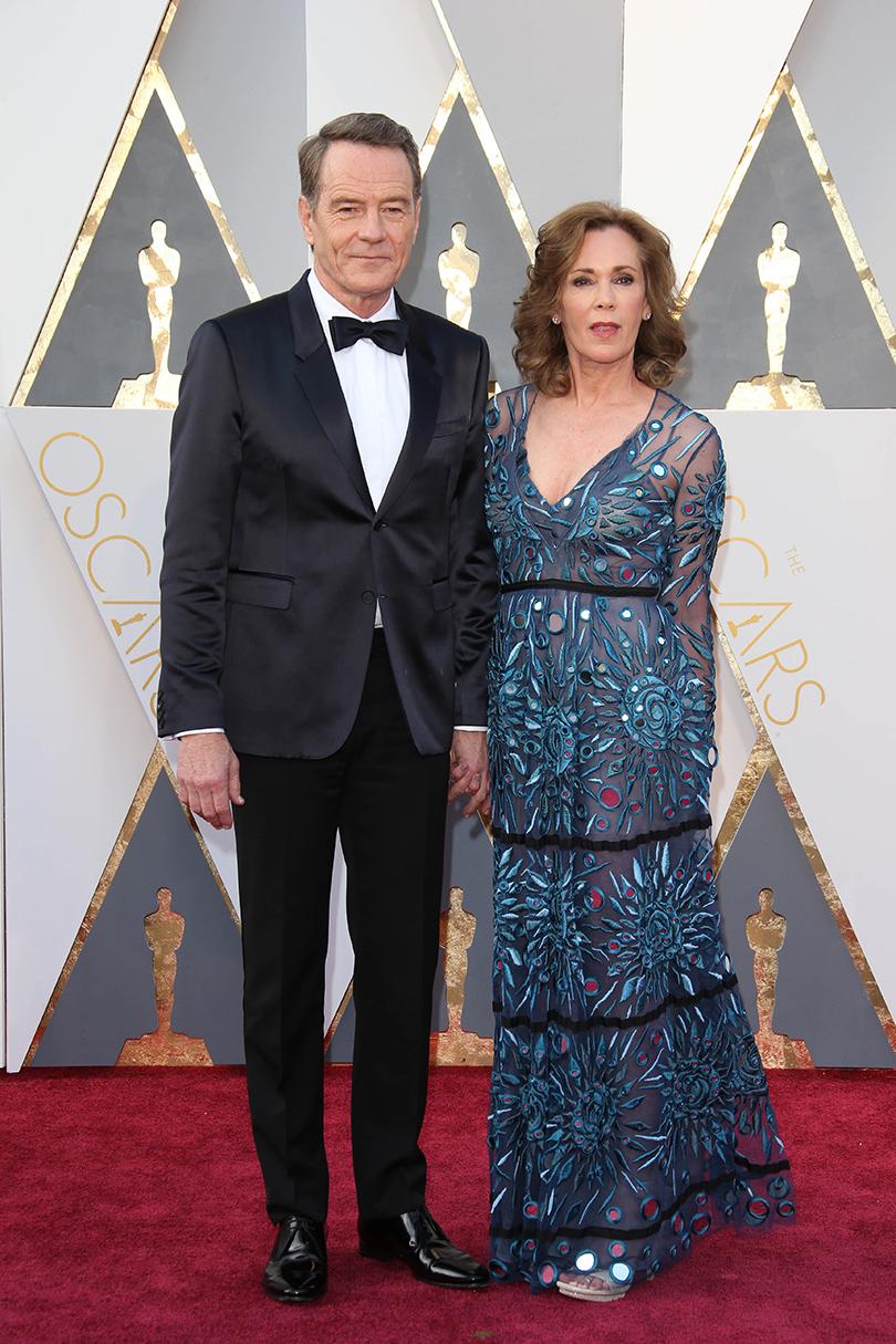 Звездные пары на церемонии вручения кинонаград «Оскар-2016»: Брайан Крэнстон и Робин Дирден