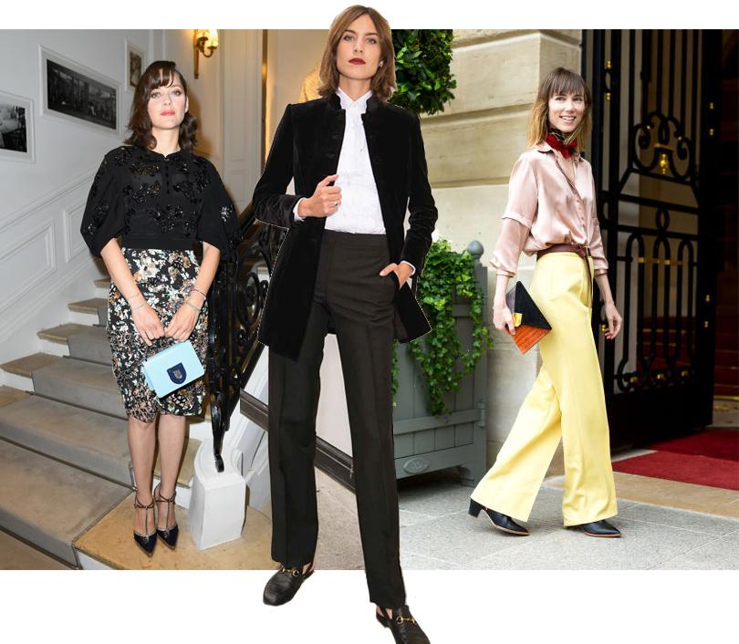 Марион Котийяр перед показом Christian Dior, Алекса Чанг, Анна Зюрова