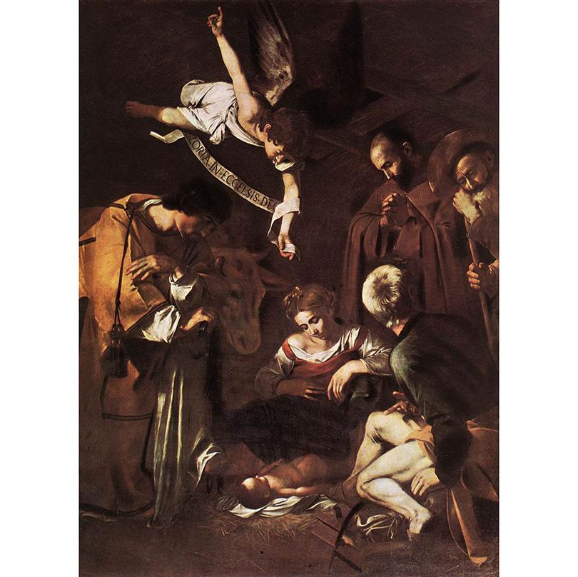 Микеланджело Меризи де Караваджо — «Рождество со Святыми Франсиском и Лаврентием»