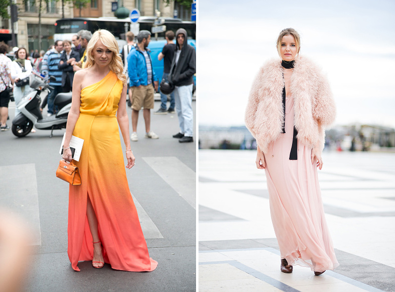 Street Style: уличная мода на Неделе Haute Couture в Париже. Яна Рудковская, Наталья Якимчик