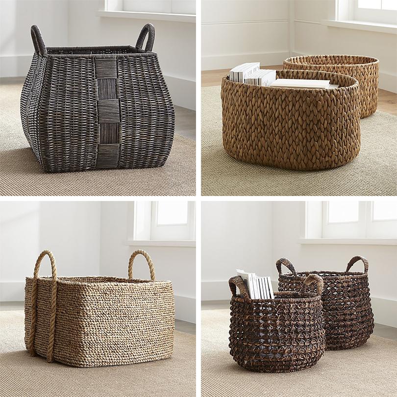 Дизайн & Декор: стильная и удобная гардеробная — как ее организовать? Корзины вэкостиле Crate &Barrel