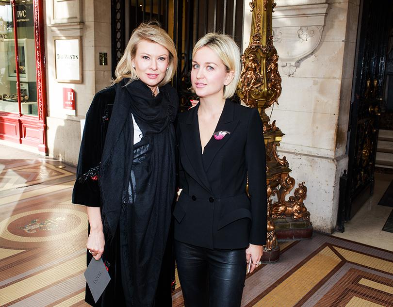 Vanity Fair с Марией Лобановой: Yanina Couture на Неделе высокой моды в Париже.  Виктория Боричевич и Дарья Янина