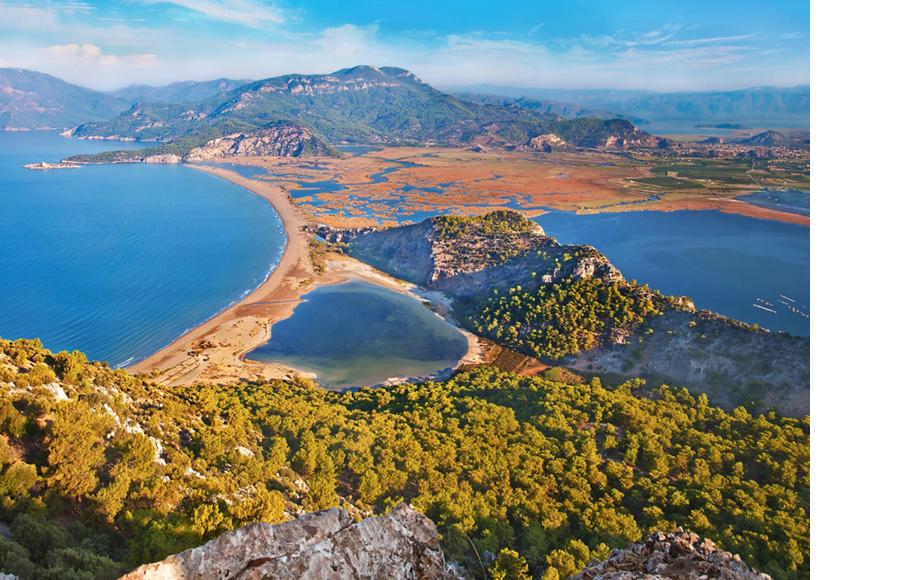 Дельта реки Дальян (Турция), в которой находится Iztuzu Beach