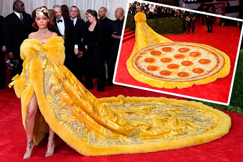 Рианна иее... пицца