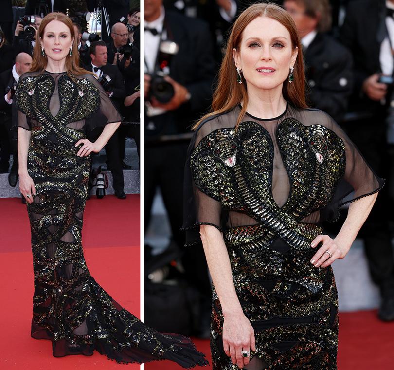 Cannes 2016: самые яркие звездные образы на церемонии открытия кинофестиваля. Джулианна Мур вGivenchy иукрашениях Chopard