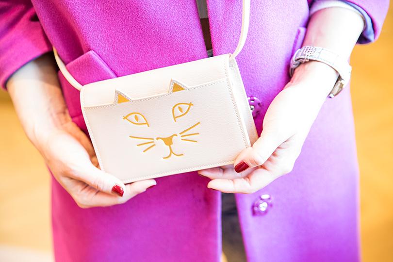 «Кошачий» клатч накаждый день. Носить можно счем угодно— безумно практичная вещь, даеще исовсем нескучная.