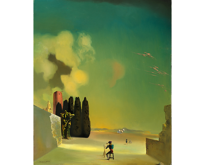 Сальвадор Дали. Пейзаж сзагадочными элементами.1934