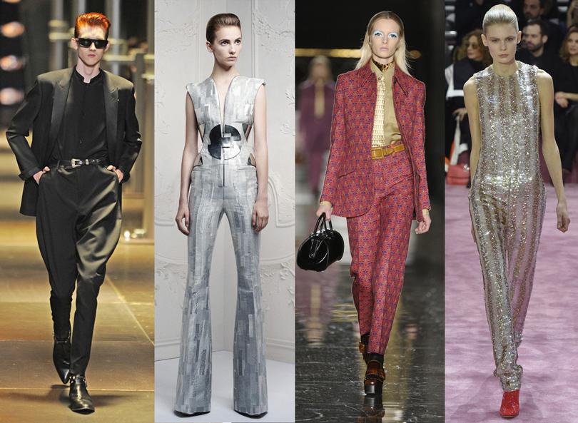 Показ Saint Laurentи (весна-лето 2014); круизная коллекция Alexander McQueen (2013); показ Miu Miu (осень-зима 2012/13); показ Dior Haute Couture (весна-лето 2015)