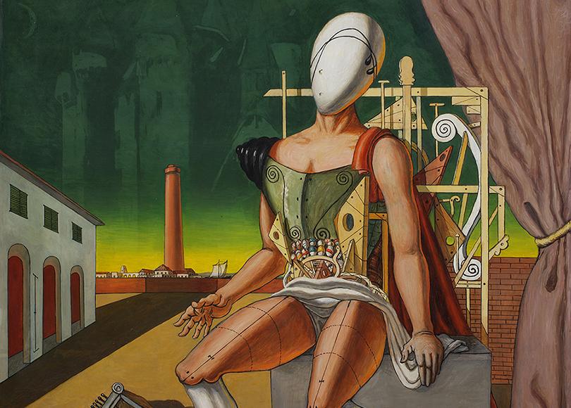 «Джорджо деКирико. Метафизические прозрения». Джорджо деКирико. «Орфей— уставший трубадур», 1970г.