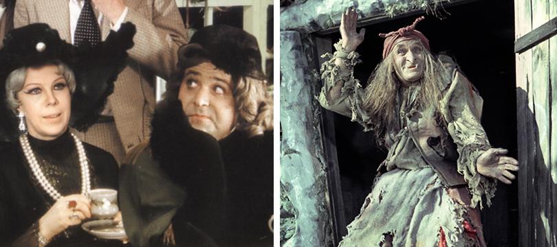 КиноТеатр: Эдди Редмэйн и еще десять мужчин, которые сыграли… женщин. Александр Калягин в картине «Здравствуйте, я ваша тетя!» и Георгий Милляр — Баба-Яга