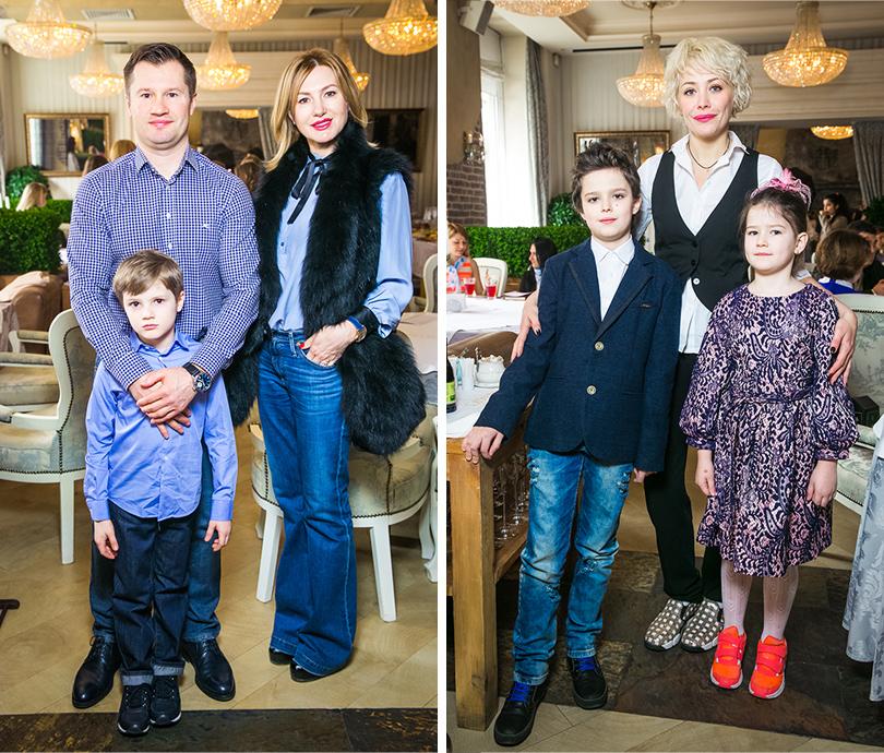 Алексей и Галина Немовы с сыном. Екатерина Волкова с детьми