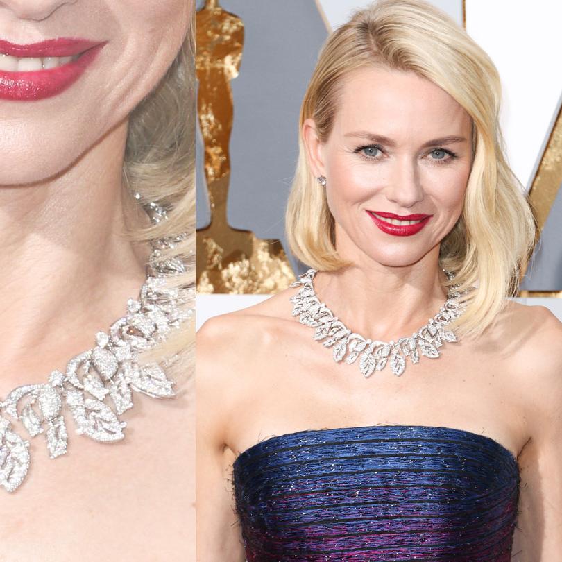 Ювелирные украшения звезд на церемонии «Оскар-2016»: Наоми Уоттс в ожерелье Bvlgari