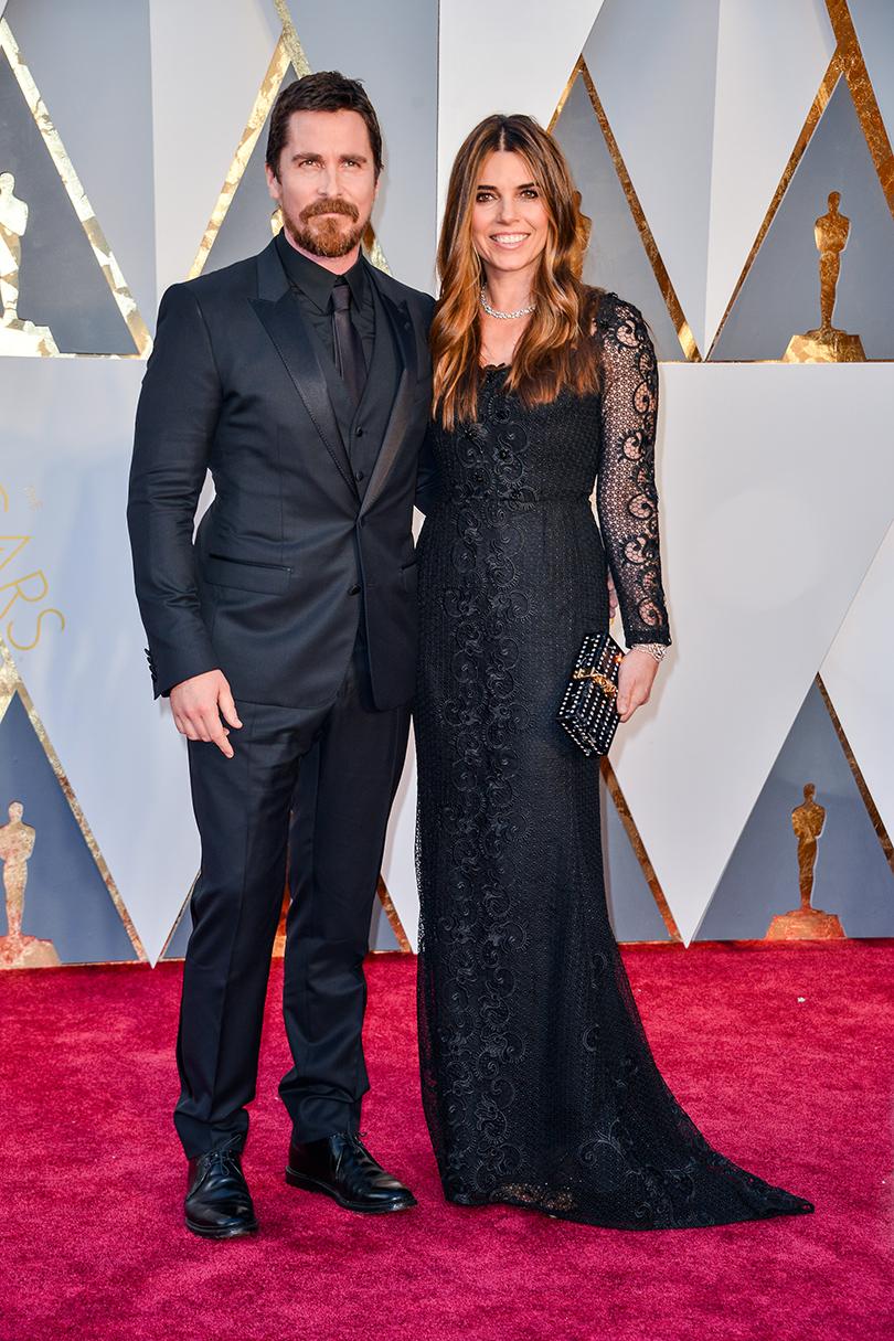 Звездные пары на церемонии вручения кинонаград «Оскар-2016»: Кристиан Бэйл и Сандра Блажич